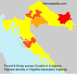 Surname Kiraly in Croatia