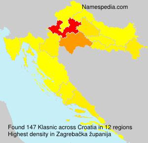 Surname Klasnic in Croatia