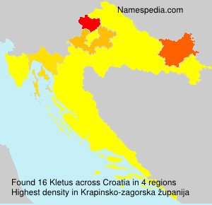 Familiennamen Kletus - Croatia