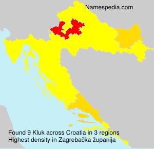 Familiennamen Kluk - Croatia