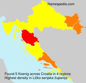 Familiennamen Koenig - Croatia
