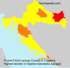 Surname Kohn in Croatia