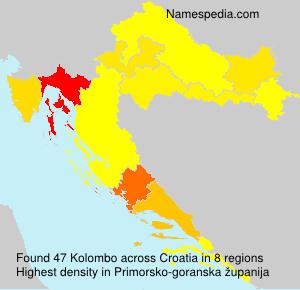 Surname Kolombo in Croatia
