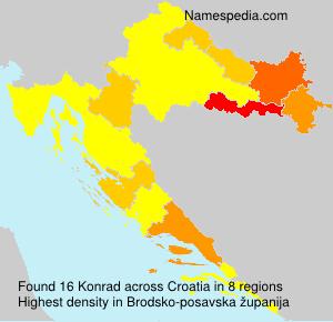 Surname Konrad in Croatia