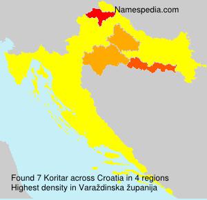 Familiennamen Koritar - Croatia