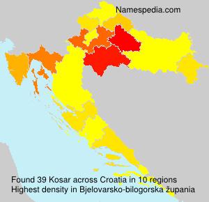 Surname Kosar in Croatia