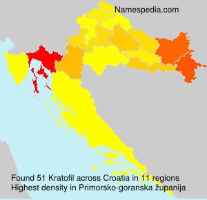 Surname Kratofil in Croatia