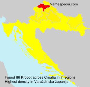 Familiennamen Krobot - Croatia