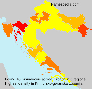 Surname Krsmanovic in Croatia