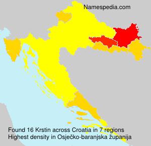Surname Krstin in Croatia