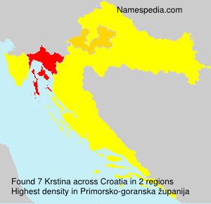 Surname Krstina in Croatia