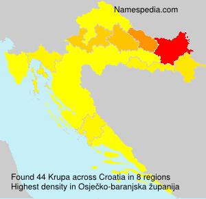 Surname Krupa in Croatia
