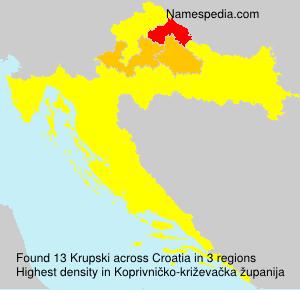 Familiennamen Krupski - Croatia