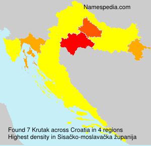 Surname Krutak in Croatia
