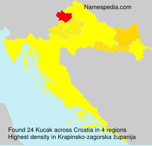 Familiennamen Kucak - Croatia
