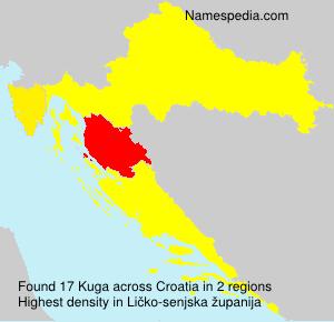 Surname Kuga in Croatia