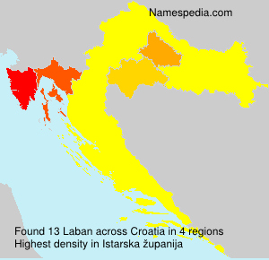 Surname Laban in Croatia