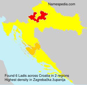 Surname Ladis in Croatia