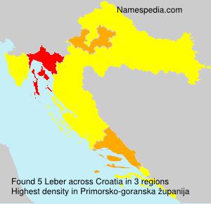 Surname Leber in Croatia