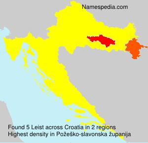 Surname Leist in Croatia