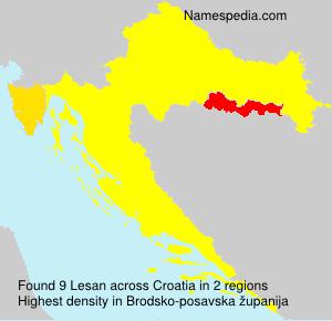 Surname Lesan in Croatia