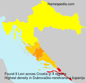Surname Levi in Croatia