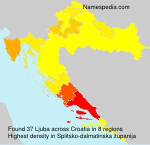 Familiennamen Ljuba - Croatia