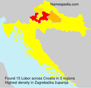 Surname Lobor in Croatia
