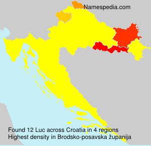 Surname Luc in Croatia