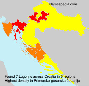 Surname Lugonjic in Croatia