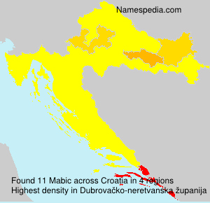 Surname Mabic in Croatia