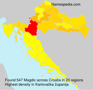 Surname Magdic in Croatia
