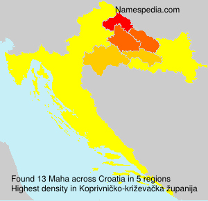 Surname Maha in Croatia