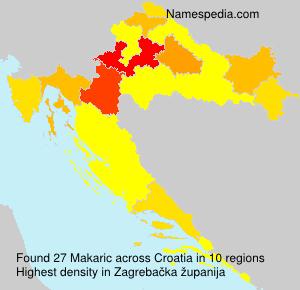 Surname Makaric in Croatia