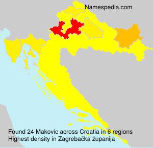 Familiennamen Makovic - Croatia