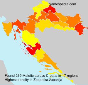 Surname Maletic in Croatia