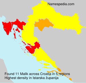 Surname Malik in Croatia