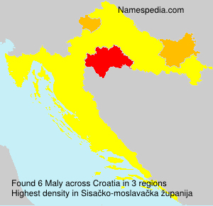 Surname Maly in Croatia