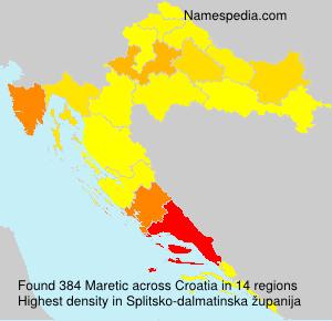 Surname Maretic in Croatia