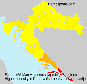 Surname Marevic in Croatia