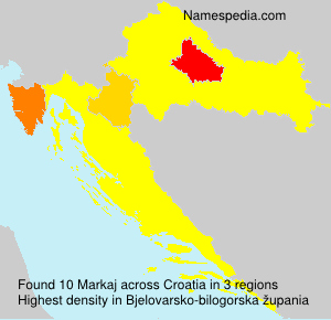 Surname Markaj in Croatia