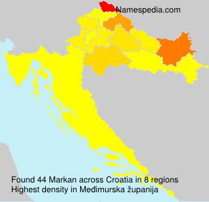 Familiennamen Markan - Croatia