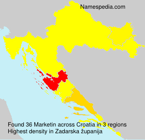 Surname Marketin in Croatia