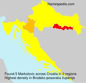 Surname Markolovic in Croatia