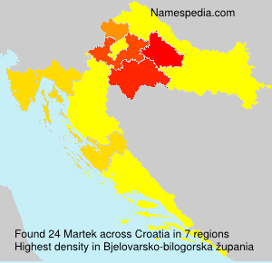 Surname Martek in Croatia