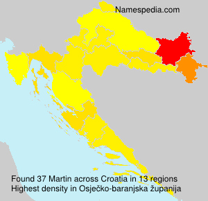 Surname Martin in Croatia