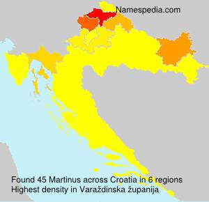 Familiennamen Martinus - Croatia