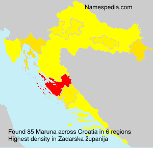 Surname Maruna in Croatia