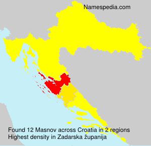Surname Masnov in Croatia