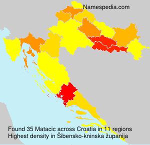 Surname Matacic in Croatia